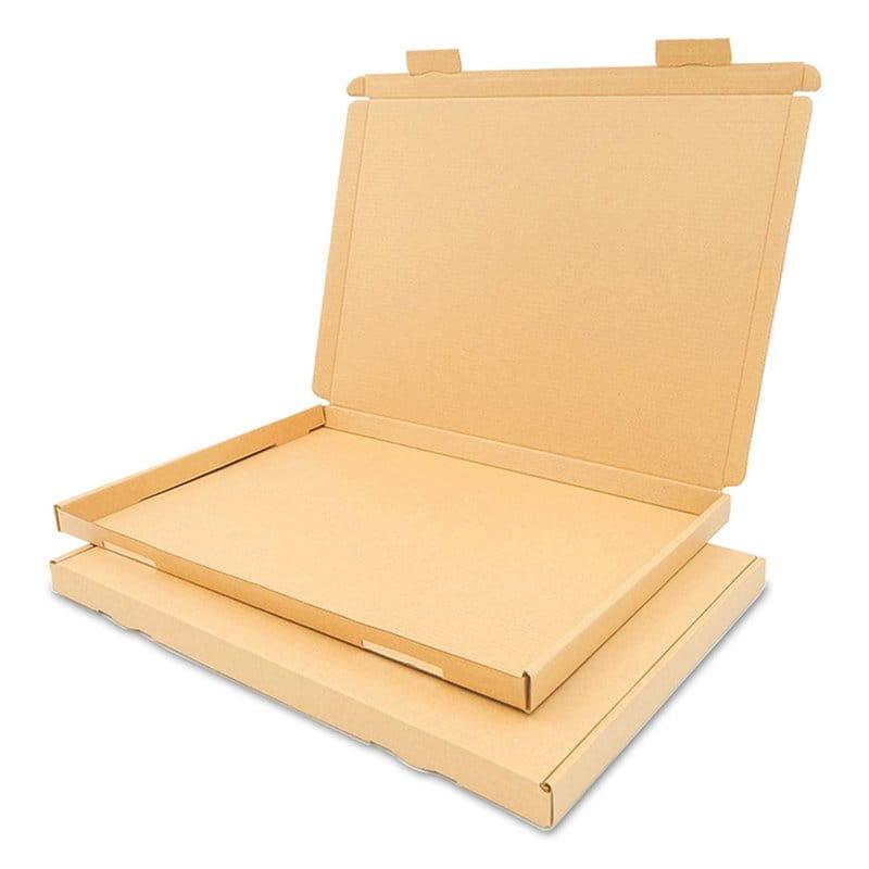 Karton pocztowy płaski 350x250x20 mm - A4 -  GB 2 brązowy